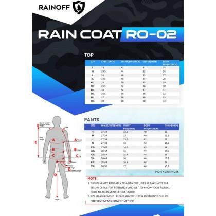 RAINCOAT [ONEPIECEOFF] CAMO-COLOR [6MONTHWARANTY] M L XL XXL 3XL 4XL 5XL 6XL