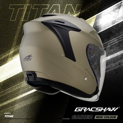 Gracshaw Gaizer Helmet Solid Color - Matt Titan