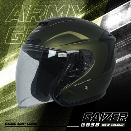 Gracshaw Gaizer Helmet Solid Color - Army Green