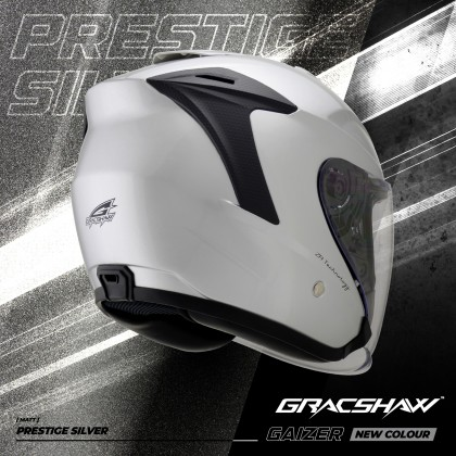 Gracshaw Gaizer Helmet Solid Color - Gloss Silver