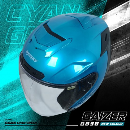 Gracshaw Gaizer Helmet Solid Color - Cyan Green