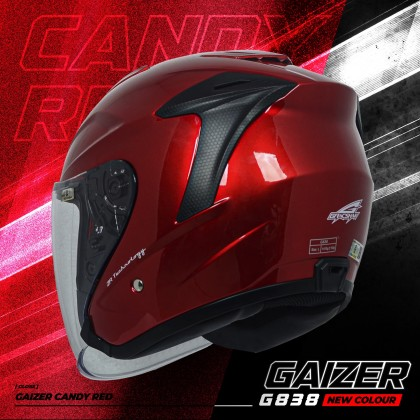Gracshaw Gaizer Helmet Solid Color - Candy Red